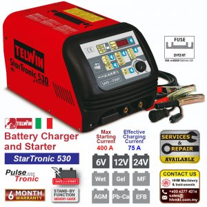 TELWIN Battery Charger and Starter – StarTronic 530