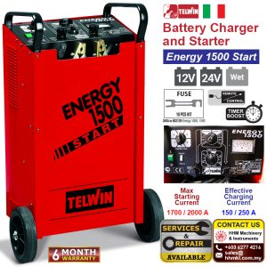 TELWIN Battery Charger and Starter – Energy 1500 Start