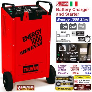 TELWIN Battery Charger and Starter – Energy 1000 Start