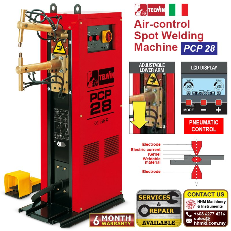 Air-control Spot Welding Machine PCP 28 LCD