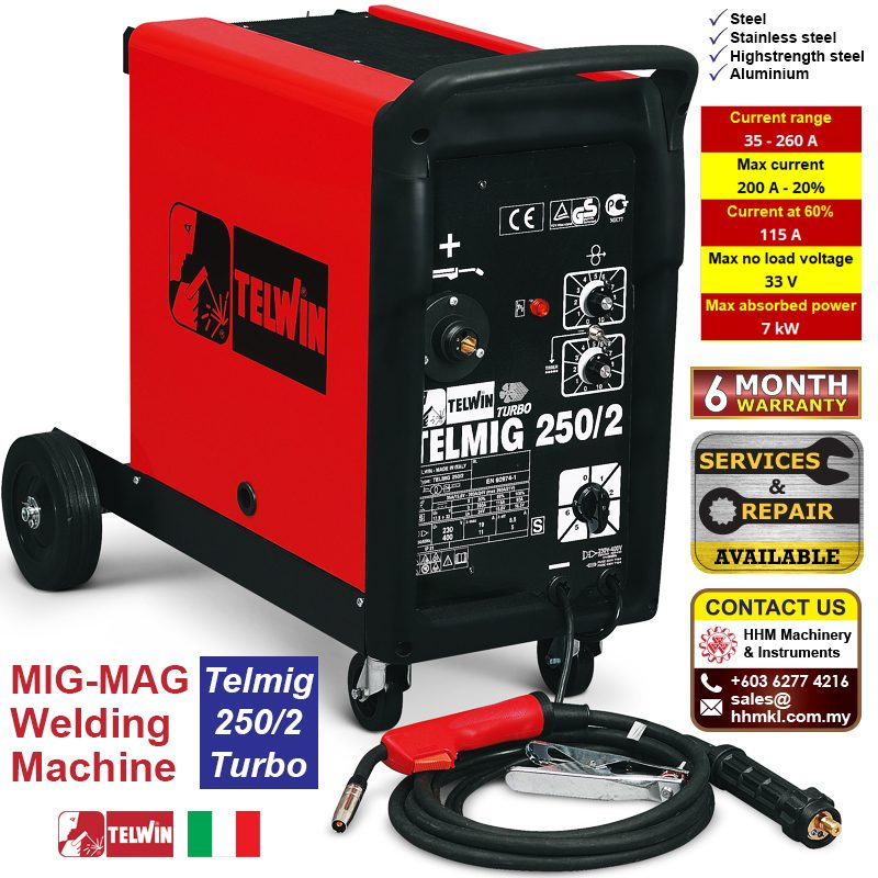 TELWIN MIG-MAG Welding Machine - Telmig 250/2 Turbo