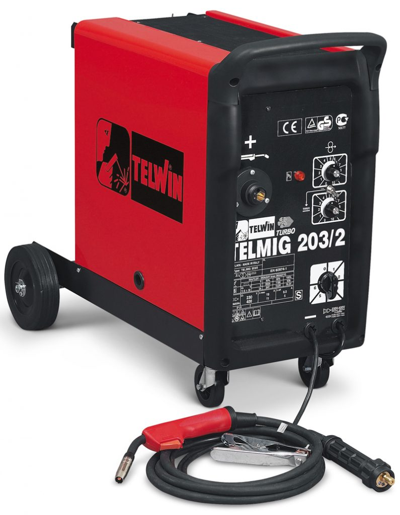 TELWIN MIG-MIG Welding Machine - Telmig 203/2 Turbo
