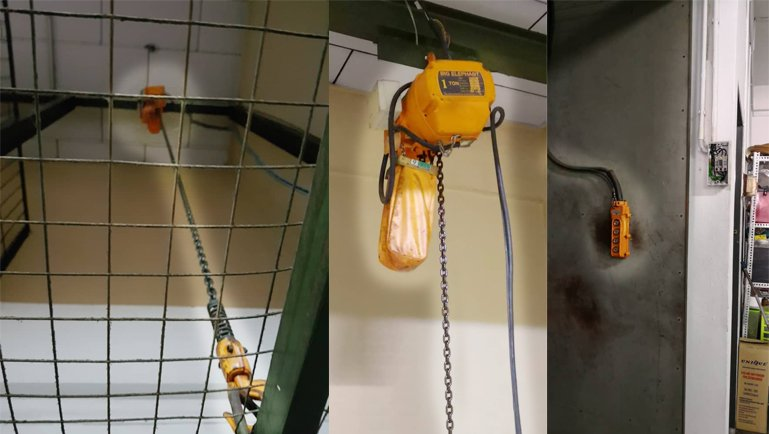 Electric Chain Hoist EC4 Series lift demo