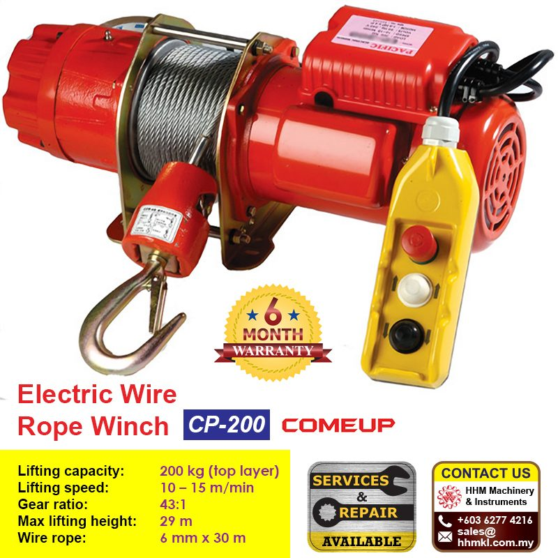 COME UP Electric Wire Rope Winch CP-200