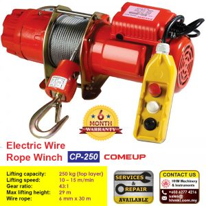 Comeup Electric Wire Rope Winch CP-250