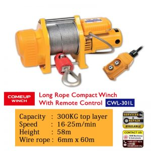 Comeup Long Rope Compact Winch CWL 301L