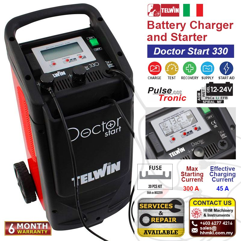 Battery Charger and Starter - Doctor Start 330