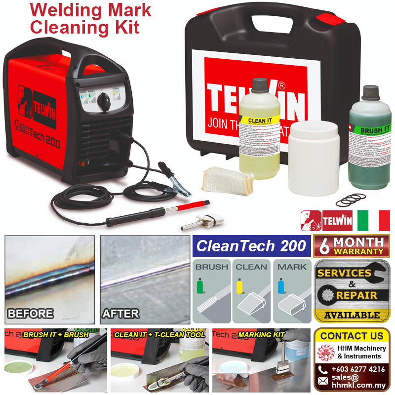TELWIN Welding Mark Cleaning Kit - Cleantech 200