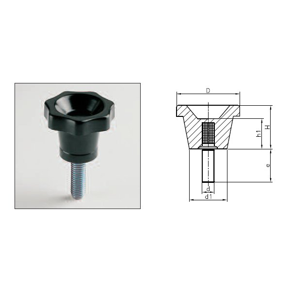 Knobs 1125T (CL T With Threaded Stud)