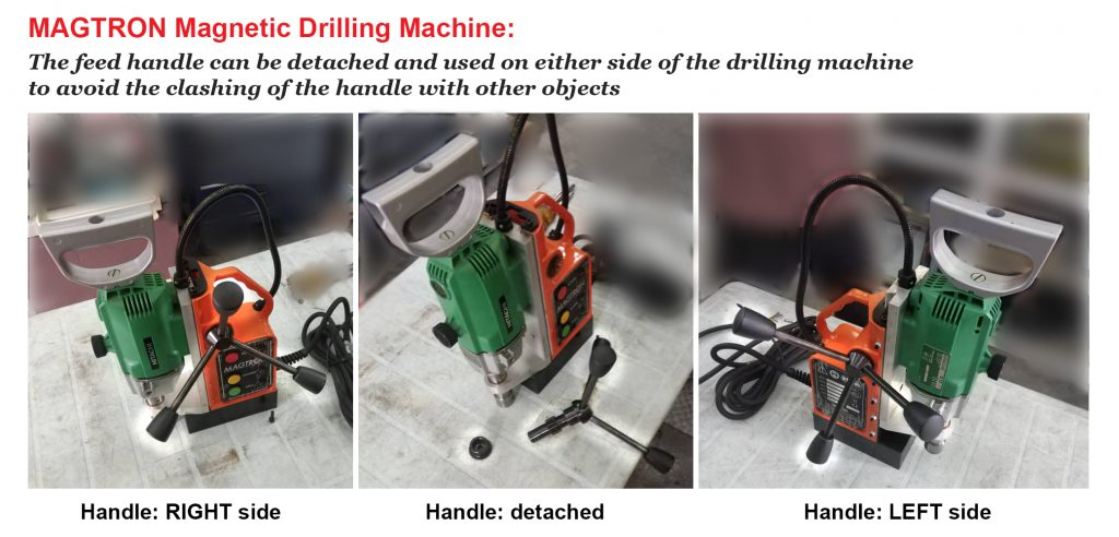 MAGTRON Magnetic Drilling Machine MBQ100 Detachable Handle