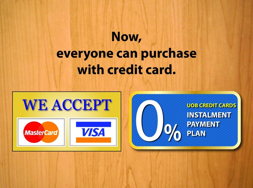 Purchase with Credit Card — 0% Instalment Payment Plan