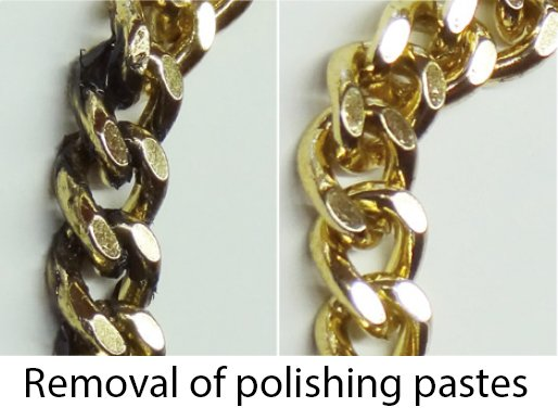 Removal of polishing pastes