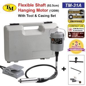 TM Flexible Shaft 92.5cm Hanging Motor 120W With Tool & Casing Set TM-31A