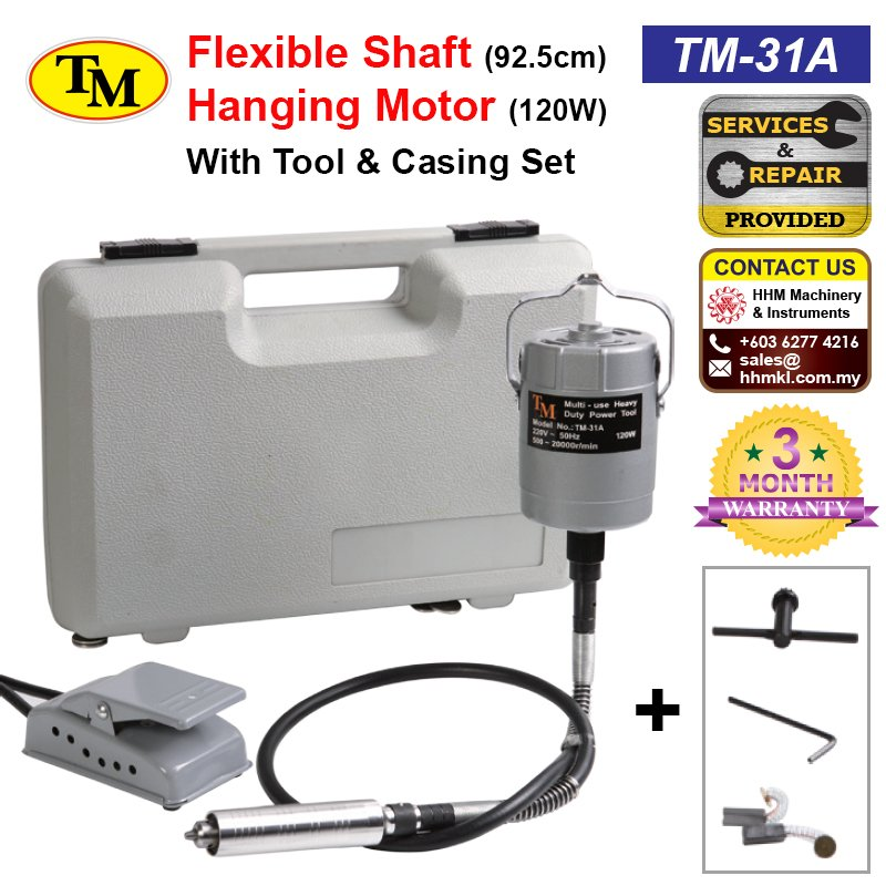 Flexible Shaft Hanging Motor 120W With Tool & Casing Set TM-31A