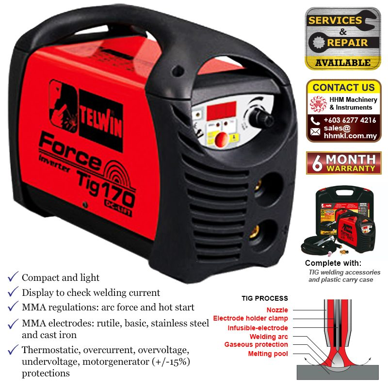 TIG and MMA Inverter Welding Machine - Force Tig 170 DC-LIFT