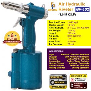 Air Hydraulic Riveter (1,045 kg.f) GP-102