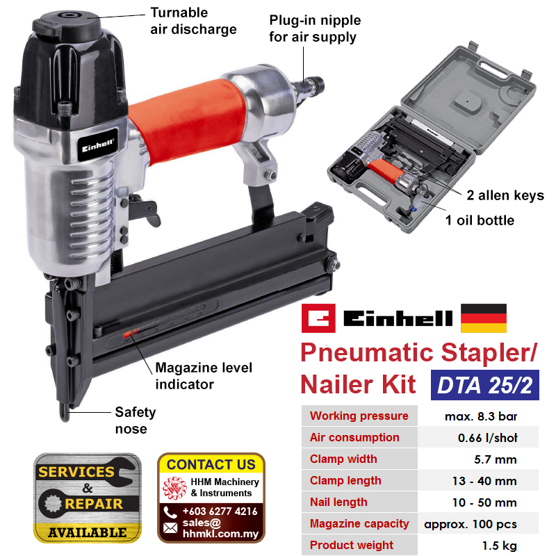 EINHELL Pneumatic Stapler/Nailer Kit DTA 25/2