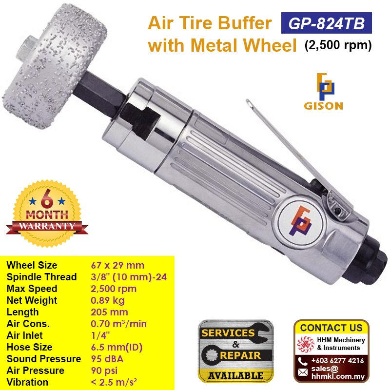 GISON Air Tire Buffer With Metal Wheel (2500rpm) GP-824TB
