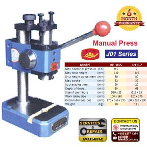 Golden Tortoise Manual Press J01 Series