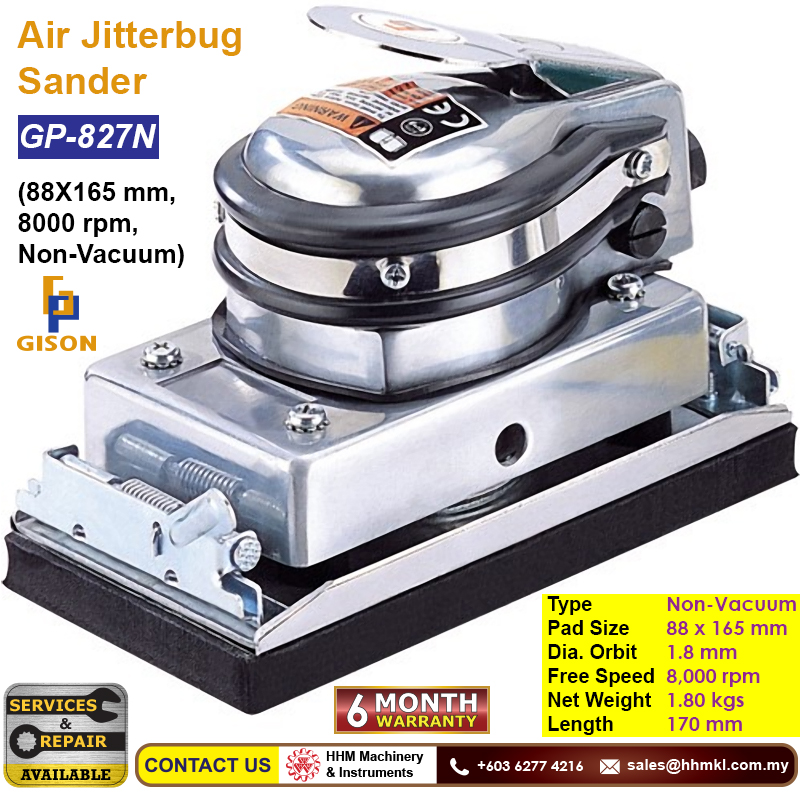 GISON Air Jitterbug Sander (88X165 mm, 8000 rpm, Non-Vacuum) GP-827N