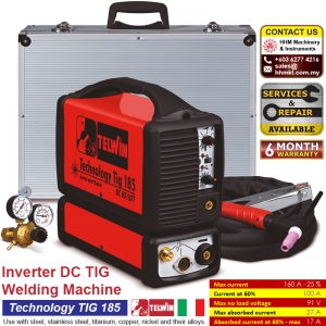 TELWIN Inverter DC TIG Welding Machine – Technology TIG 185 DC HF/LIFT