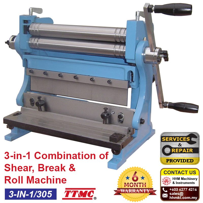 TTMC 3-in-1 Combination of Shear, Break & Roll Machine 3-IN-1/305
