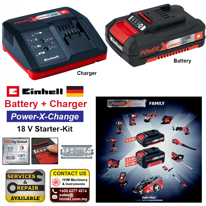 EINHELL Battery and Charger Power-X-Change 18 V Starter-Kit
