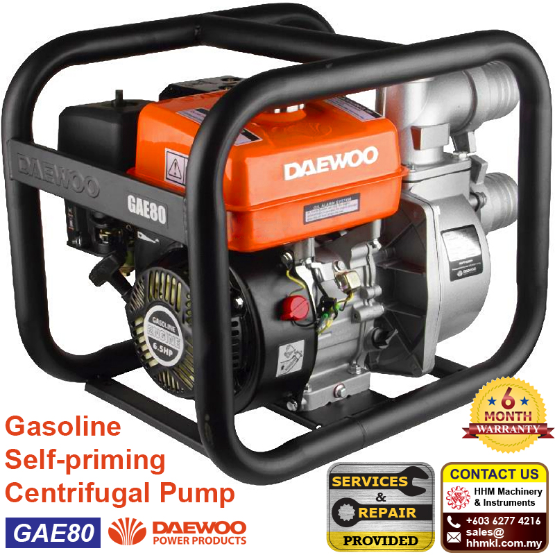 DAEWOO Gasoline Self-priming Centrifugal Pump GAE80