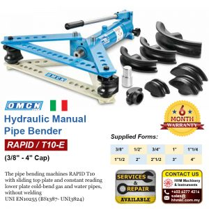 OMCN Hydraulic Manual Pipe Bender (3/8″-4″ Cap) RAPID/T10-E