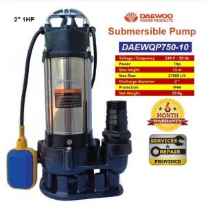 DAEWOO Electric Submersible Pump 1HP 2″ DAEWQP750-10