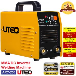 UTEQ MMA DC Inverter Welding Machine ARC-200