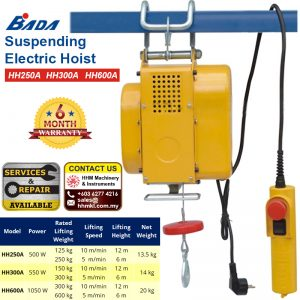 Suspending Electric Hoist HH250A HH300A HH600A