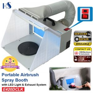 Portable Airbrush Spray Booth with LED Light And Exhaust System E420DCLK