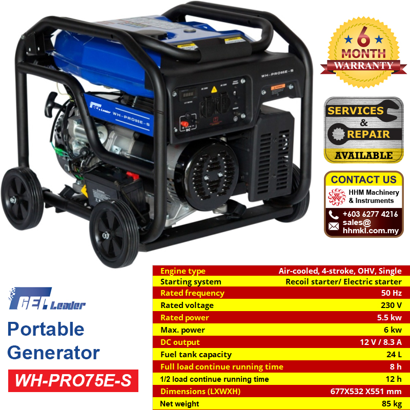 GEP LEADER Portable Generator WH-PRO75E-S