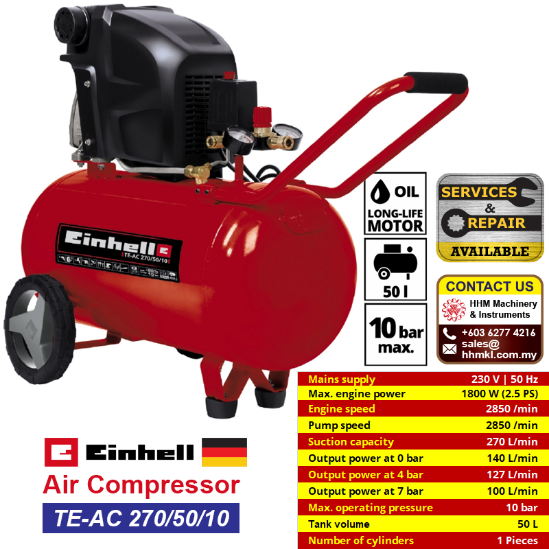 EINHELL Air Compressor TE-AC 270/50/10