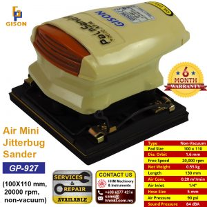 GISON Air Mini Jitterbug Sander (100X110 mm, 20000 rpm, non-vacuum) GP-927