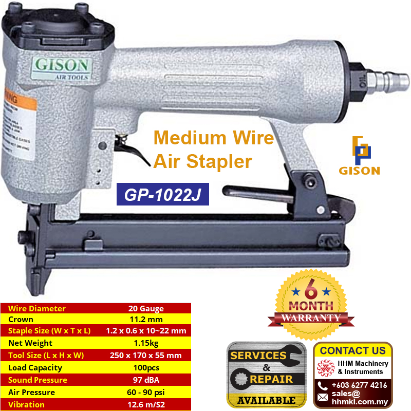 GISON Medium Wire Air Stapler GP-1022J