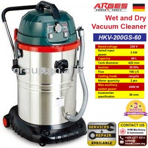 ARGES Wet and Dry Vacuum Cleaner HKV-200GS-60