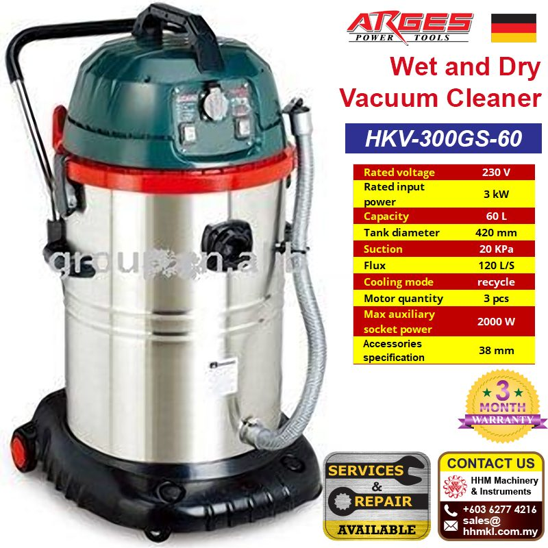 ARGES Wet and Dry Vacuum Cleaner HKV-300GS-60
