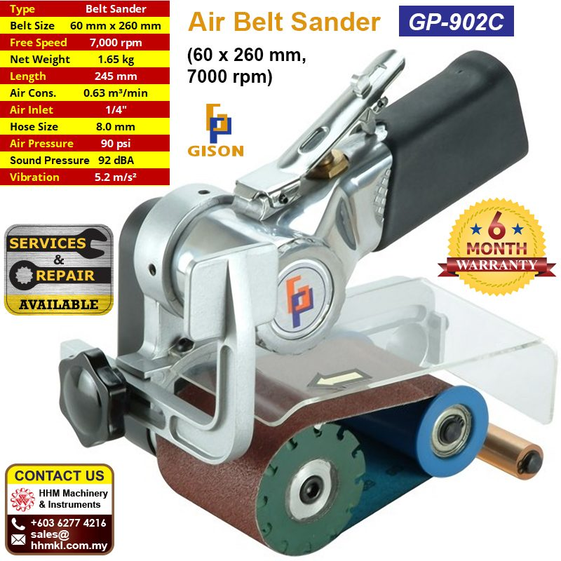 GISON Air Belt Sander (60 x 260 mm 7000 rpm) GP-902C