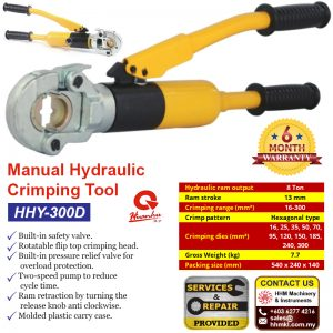 HUANHU Manual Hydraulic Crimping Tool HHY-300D