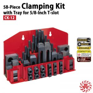 Clamping Kit 58-Piece with Tray for 5/8-Inch T-slot
