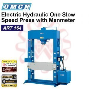 OMCN Electric Hydraulic One Slow Speed Press with Manmeter ART164