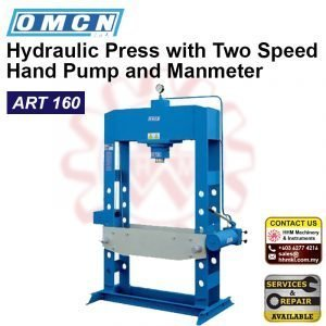 OMCN Hydraulic Press with Two Speed Hand Pump and Manmeter ART 160