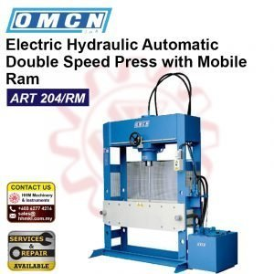 OMCN Electric Hydraulic Automatic Double Speed Press with Mobile Ram ART204/RM