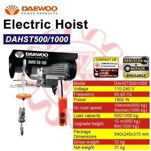 DAEWOO Electric Hoist DAHST500/1000