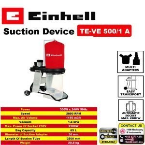 EINHELL Vacuum Dust Extractor System TE-VE 550/1A